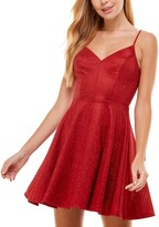 Thumbnail for your product : City Studios Juniors' Glitter Fit & Flare Dress
