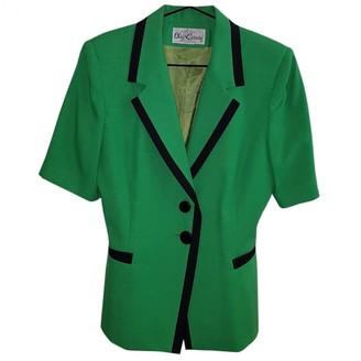 Oleg Cassini Green Cotton Jacket for Women Vintage