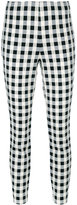 Rag & Bone checkered cropped trousers - women - Cotton/Polyamide/Spandex/Elastane - 2