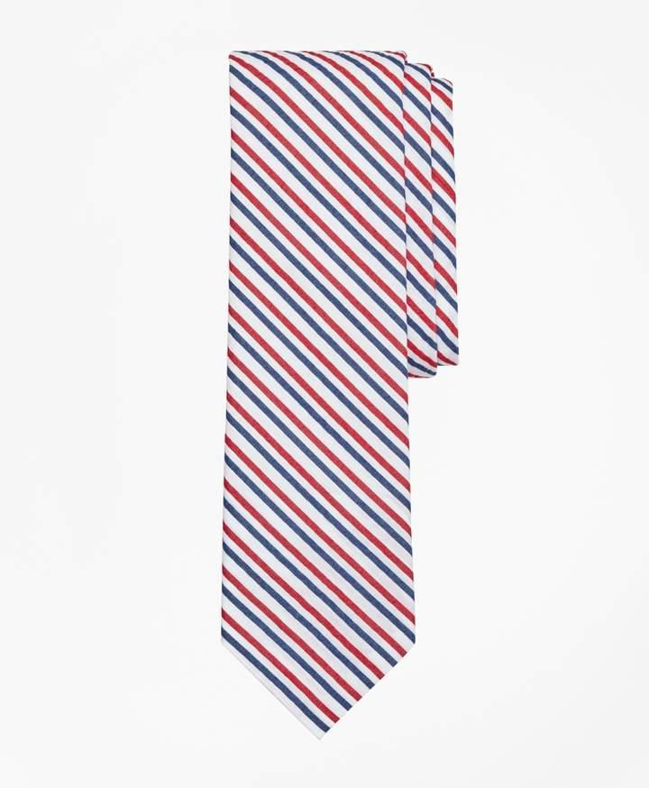 Brooks Brothers Striped Seersucker Tie