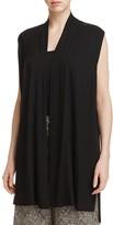 Eileen Fisher Drape Front Long Vest