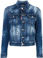 DSQUARED2 bleached denim jacket - women - Cotton - 38