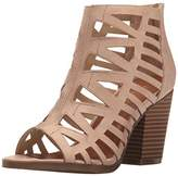 Sugar Women's Vacation Strappy Peep Toe Block Heel Stacked Bootie,6 M US