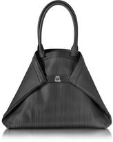 Akris Ai Medium Black Horsehair Tote Bag