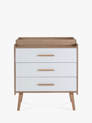 Silver Cross West Port 3 Drawer Dresser Changing Table, Natural/White