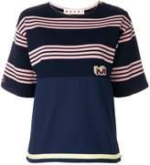 Marni striped design T-shirt