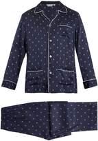 Derek Rose Brindisi 19 silk-satin pyjama set