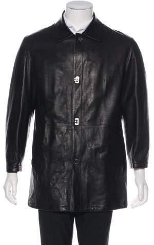 Salvatore Ferragamo Long Leather Coat