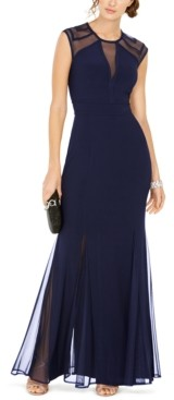 Night Way Nightway Petite Geo Illusion Gown