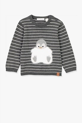 Country Road Penguin Intarsia Crew Knit