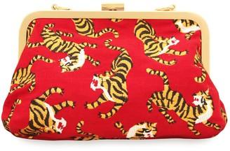 Brunna.Co Sumatran Tiger Clutch, Red