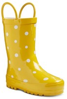 Western Chief Toddler Girls' Polka Dot Rain Boots - Yellow