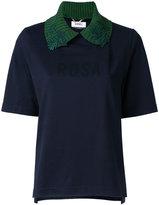 Muveil 'Rosa' collared T-shirt