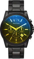 Armani Exchange Men's Chronograph Black Stainless Steel Bracelet Watch 45mm
