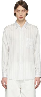 Comme des Garçons Shirt White Striped Cupro Shirt