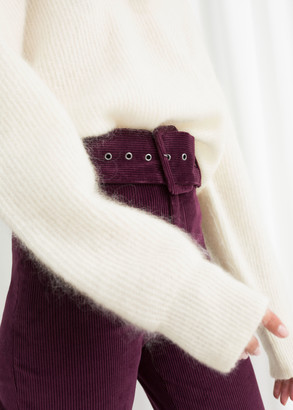 And other stories Belted Slim Corduroy Pants