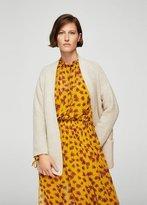 MANGO Oversize wool-blend cardigan
