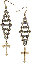 Topshop Stone and Cross Earrings