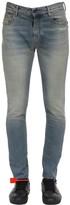 Off-White Off White Skinny Vintage Wash Cotton Denim Jeans
