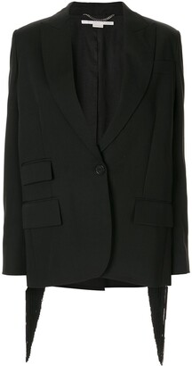 Stella McCartney Fringe Back Blazer