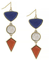 Jessica Simpson Home Grown Fashion Geometric Triple-Drop Statement Earrings
