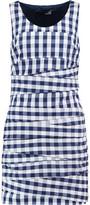 Love Moschino Plaid Cotton-Blend Twill Mini Dress