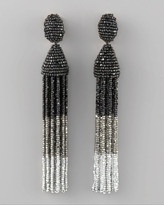 Oscar de la Renta Tiered Tassel Earrings