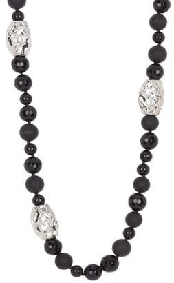 Simon Sebbag Long Mixed Black Onyx Necklace