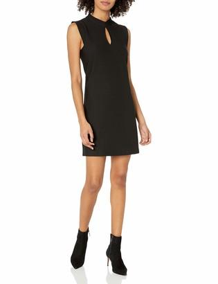 BCBGeneration Women's A- A-line Dress with Mock Collar Black M