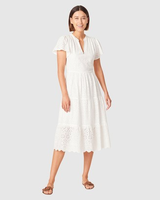 French Connection Women's Dresses - Broderie Midi Dress - Size One Size, 8 at The Iconic