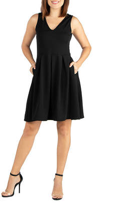 24/7 Comfort Apparel 24/7 Comfort Fit and Flare Dress-Maternity