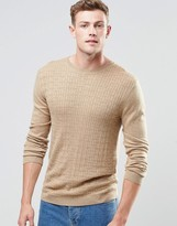 Asos Cable Sweater in Beige