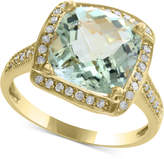 Effy Final Call by EFFYandreg; Green Amethyst (4-1/3 ct. t.w.) and Diamond (1/5 ct. t.w.) Ring in 14k Gold