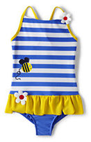 Lands' End Little Girls Bumble Bees One Piece Swimsuit-Bumble Bee