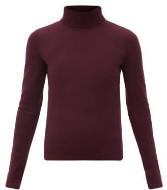 Gabriela Hearst Beckwith Wool-blend Roll-neck Sweater - Burgundy