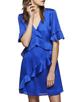 Miss Selfridge Frill Front Dress, Cobalt