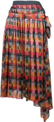 ADAM by Adam Lippes printed wrap skirt