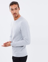 Brooksfield Textured Jacquard Knit Jumper