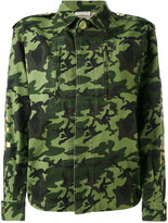 Each X Other back print camouflage military jacket - women - Cotton - XS