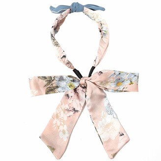 COSYOO Women Bow Headband Dainty Elegant Scarf Headband Hair Band Flower Pattern Headwear Floral Headwrap