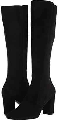 Stuart Weitzman Livia 80 Stretch Boot (Black Suede/Suede Elastic) Women's Boots