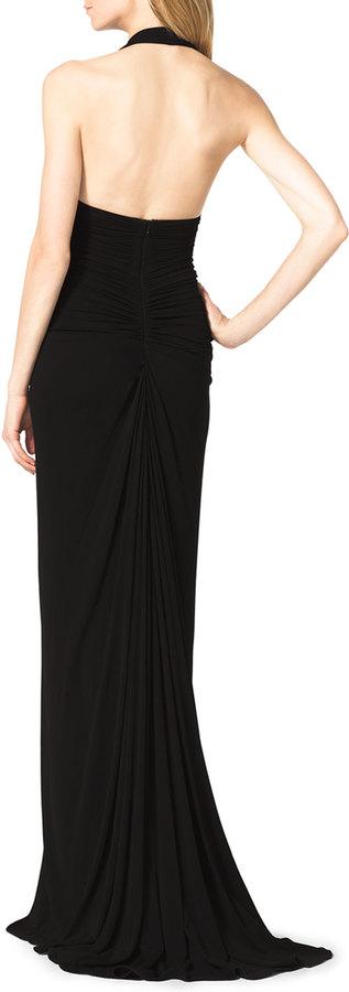 Michael Kors Matte Jersey Halter Gown