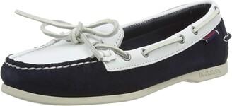 Sebago Women's Nina Suede Lea W 71113QW Boat Shoes Multicolour (Bluenavy-White A1z) 3.5 UK