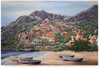 CAROL J. Trademark Fine Art Rupp 'Amalfi Coast Line' Canvas Art