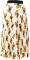 Christopher Kane midi pleated skirt - women - Polyester - 40