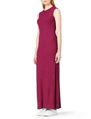 MERAKI Women's Slim Fit Rib Summer Maxi Dress,(Size: Medium)