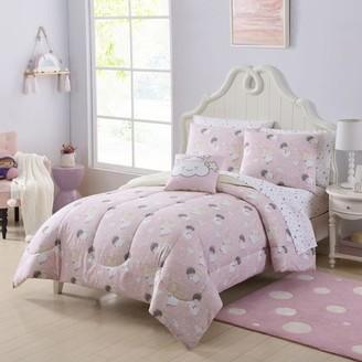 Your Zone Sleepy Angel Bed in a Bag Bedding Set w/ Reversible Comforter