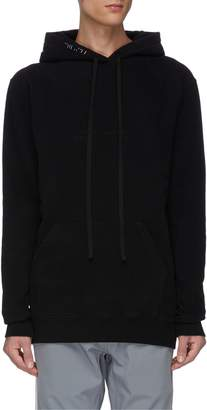 Taverniti So Ben Unravel Project Drawstring waist brush stroke print hoodie