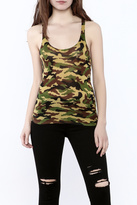Olivaceous Camo Tank Top