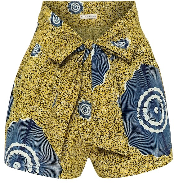 Ulla Johnson Printed cotton shorts